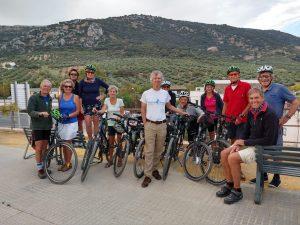 fietsen in andalusie in een groep