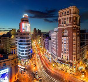Madrid bij nacht
